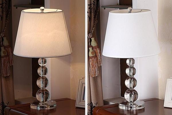 简约水晶台灯卧室床头灯