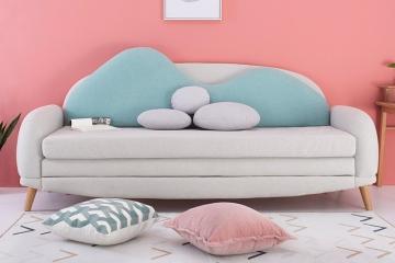 北歐客廳兩用布藝沙發床