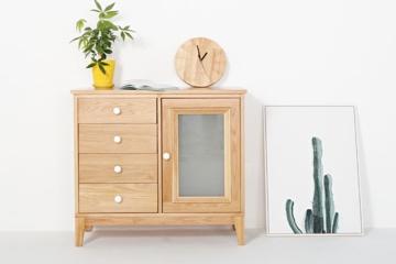现代简约环保白橡木收纳柜