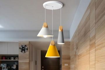 個性單頭實木鋁材馬卡龍燈具