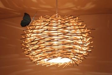 现代简约创意编织麻球吊灯