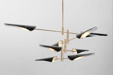 后现代金属工业风斜口创意吊灯