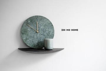 大理石掛鐘客廳創意靜音時鐘
