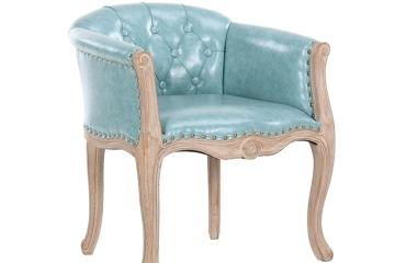 乡村复古实木简约餐椅