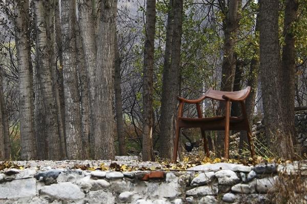 原木扶手椅圈椅餐椅子