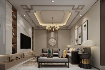 北京昌平杨家现代别墅室内装修