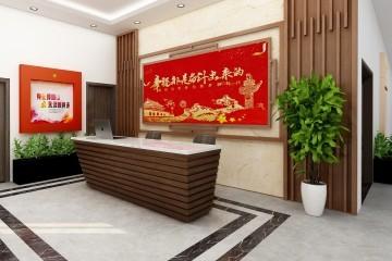 内蒙古赤峰李家办公建筑室内装修