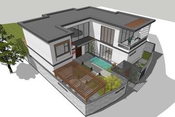 四川二层现代别墅设计