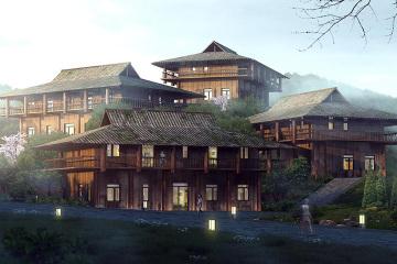贵州岜沙原奢度假村别墅(三)