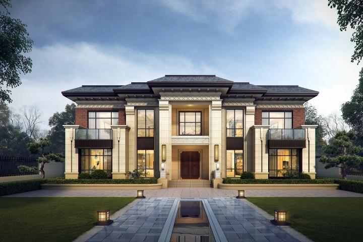 陕西西安高家新中式别墅