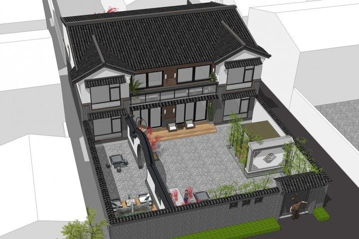 北京怀柔梁家新中式别墅