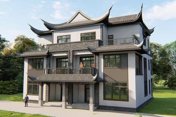 湖北荆州汪家中式双拼住宅