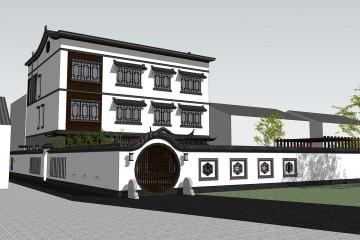 江西吉安肖家中式别墅