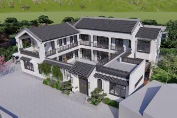 湖南长沙陶家新中式三合院