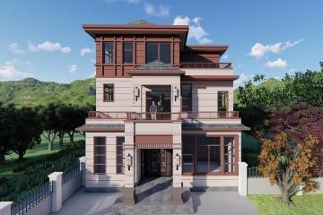 广西柳州黄家新中式别墅