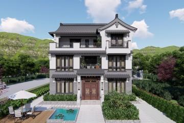 浙江台州吴家新中式别墅