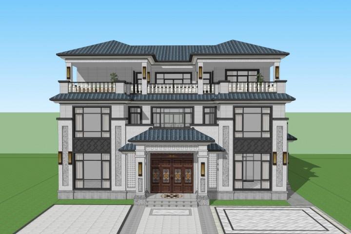 湖南常德谢家新中式别墅