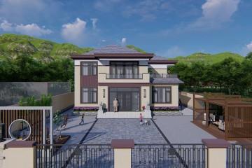 內蒙古赤峰張家新中式別墅