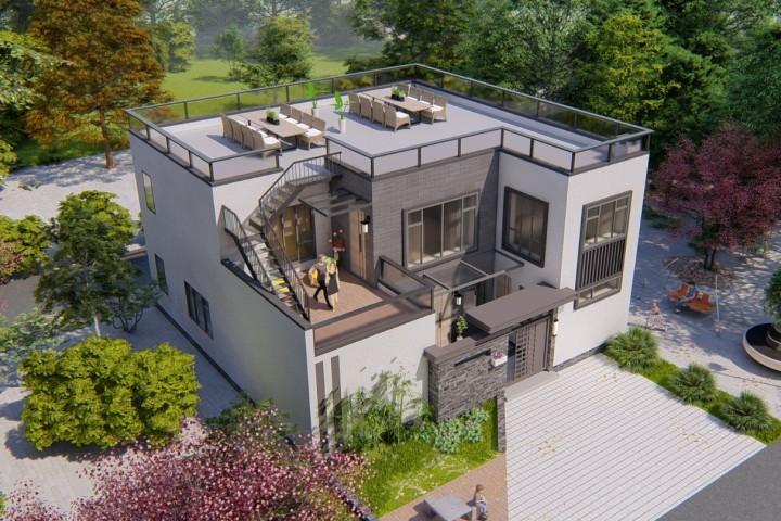 北京房山许家现代别墅