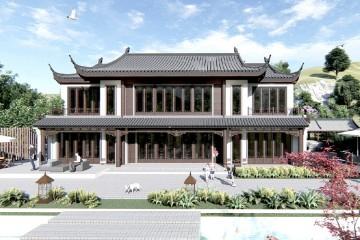 浙江诸暨孟家中式别墅
