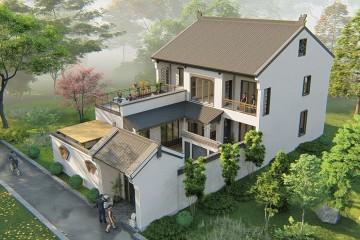 河南信阳陶家中式别墅